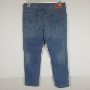 Womens 30 Levi Strauss Boyfriend Denim Blue Jeans